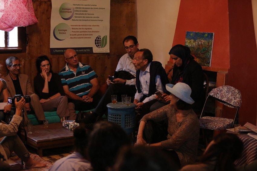 Moment intime et privilégié avec avec Pierre Rabhi Ferme Darbouazza